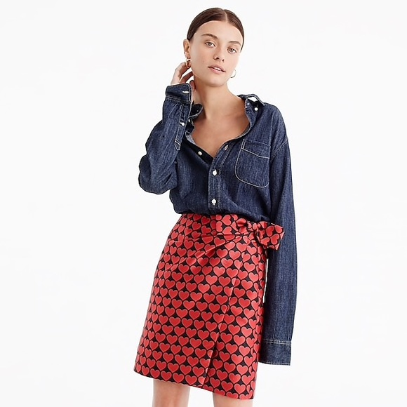 146238c24768 J. Crew Dresses & Skirts - J.crew wrap heart skirt in metallic jacquard